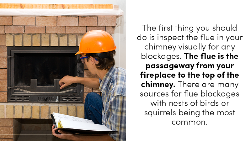inspect flue in chimney